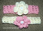 Headband with Interchangeable Flower free crochet pattern