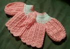 JoAnne Sweater newborn sweater free crochet pattern