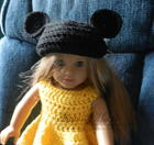 Mickey Mouse Ears for American Girl Doll free crochet pattern