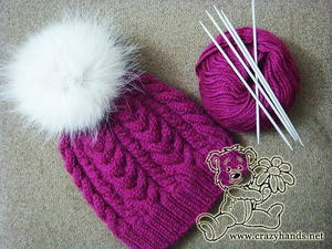 Bushel of Berries Hat free knitted hat pattern