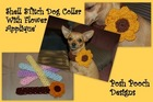 Shell Stitch Dog Collar with a Big Flower or Butterfly