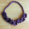 Crochet Flower Necklace Tutorial