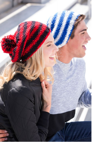 Let's Go! Slouchy free Knit Hat Pattern