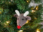Rudolf the Rednosed Reindeer Ornament pattern