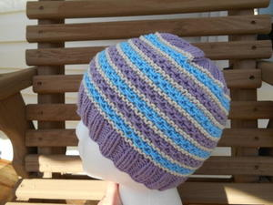 Springtime Stripes Hat free knitted hat pattern