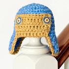 Aviator Crochet Baby Hat