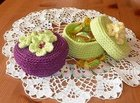Pretty Floral Trinket Box free crochet pattern