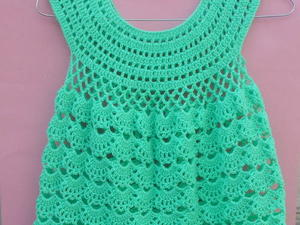 Baby Lacy Dress \/ Frock free crochet pattern