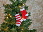 Mini Stockings Ornament Pattern