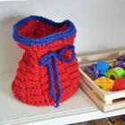 Crocheted Toy Basket free crochet pattern