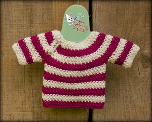 Newborn Top Down Sweater