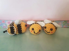 Bumble bee keychain Free Crochet Pattern