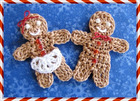 Little Gingerbread Boy and Girl pattern