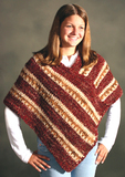 Striped Cozy Poncho
