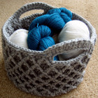 Simply Irresistible Diamond Trellis Basket free crochet pattern