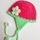 Strawberry Bloom Baby Hat
