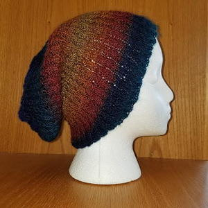 Broken Rib Slouchy Hat free knitting hat pattern