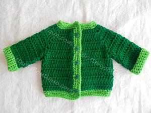 Two Tone Baby Sweater