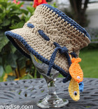 Gone Fishin' Baby Hat