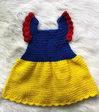 Snow White Princess Baby Dress free crochet pattern