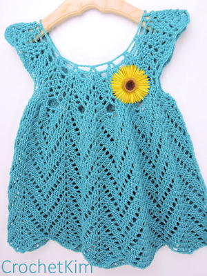 Tulip Chevrons Crochet Baby Dress free crochet pattern