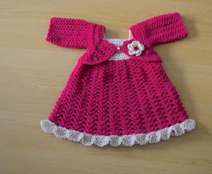 Plum Crochet Baby Dress free crochet pattern