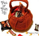 Crocheted Pumpkin Candy Bag