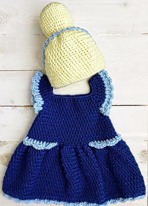 Cinderella Dress for Baby free crochet pattern