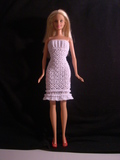 Winter Snow Barbie dress and cape\/wrap free crochet pattern