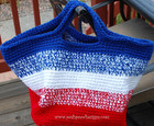 American Striped Crochet Bag