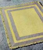 Yellow and Gray Rug free crochet pattern