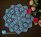 Flower Wheel Doily free crochet pattern