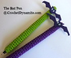 Bat Pen Crochet Cozy