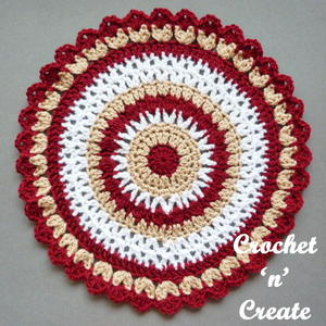 Colorful Mandala free crchet pattern