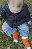 Candy Corn Socks Baby Sizes free crochet pattern
