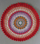 Colorful Ringed Rug free crochet pattern
