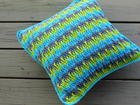 Textured Throw Pillow Cover free crochet pattern