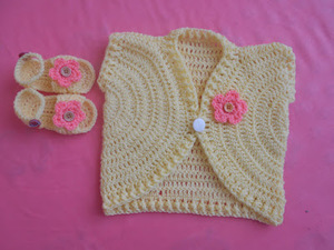 Sandal for Babies\/New Summer Vest Design free crochet pattern
