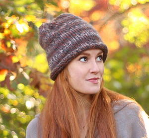 Smoked Topaz Knit Beanie free knitted hat pattern