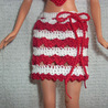 Hearts Barbie Valentine's Day outfit skirt Free crochet pattern