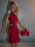 Ribbons and BowsBarbie Christmas Barbie dress and bow wristlet\/clutch free crochet pattern