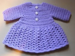 Baby Sweater Dress free crochet pattern