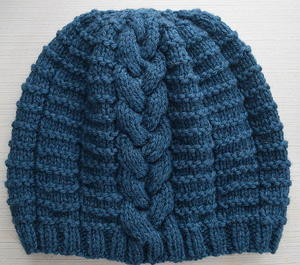 Blissful Braided Beanie free knitted hat pattern
