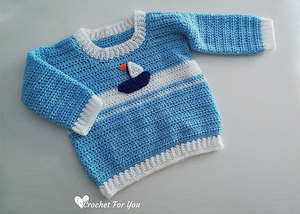 Set Sail Baby Sweater Free Crochet Pattern