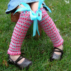 Ribbon Stripe Leg Warmers