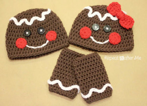 Gingerbread Hat and Legwarmers Set