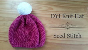 Berry Beautiful Seed Stitch Hat free knittd pattern