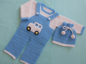 Boy Romper Set Free Crochet Pattern