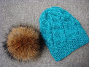 Azure Cable Knit Hat free knitted hat pattern