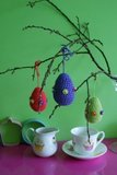 Bright Crochet Eggs